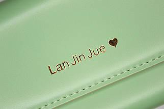Кошелёк женский Lan Jin Jue Heart, зелёный, фото 3