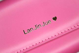 Кошелёк женский Lan Jin Jue Heart, розовый, фото 3