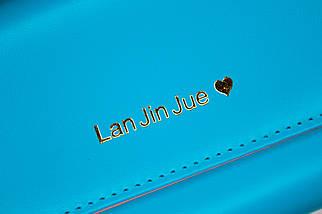 Кошелёк женский Lan Jin Jue Heart, голубой, фото 3