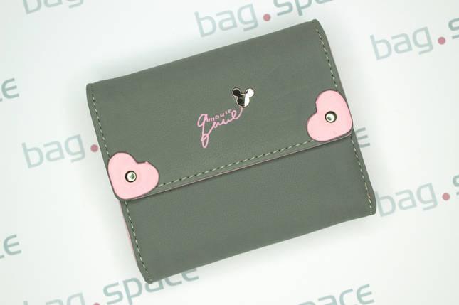 Кошелёк женский PrettyZys Mouse Lucy, серый+розовый, фото 2