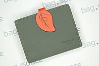 Кошелек женский PrettyZys Leaf, серый+оранжевый