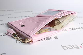 Кошелёк женский PrettyZys Two Hearts Mini, розовый (пудровый), фото 2