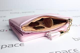Кошелёк женский PrettyZys Two Hearts Mini, розовый (пудровый), фото 3