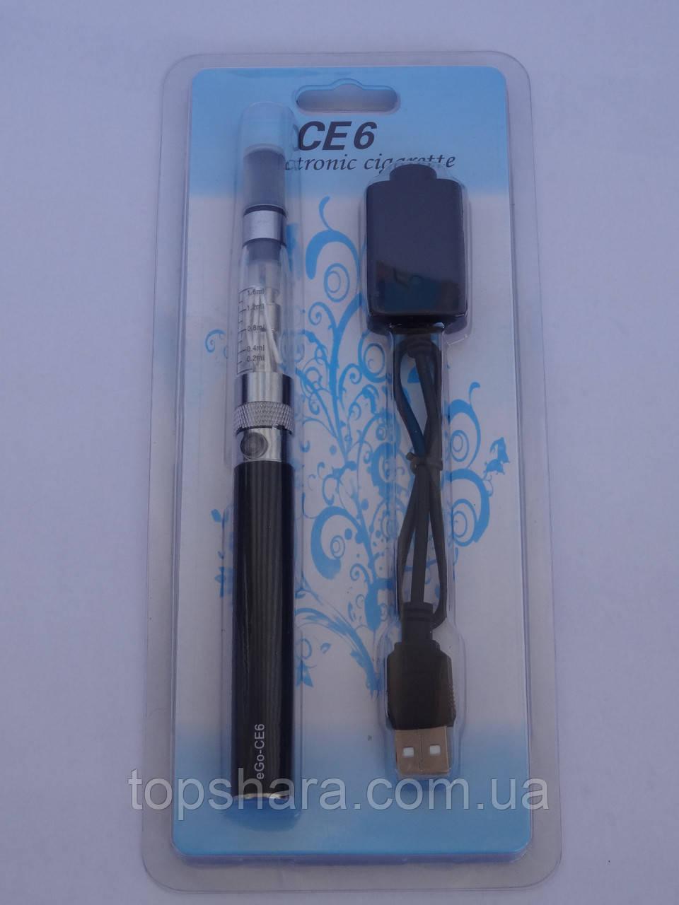 Электронная сигарета eGo CE6 1100 mAh черная, блистерная упаковка