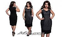 Женское платье сарафан джинс + вставки из французский трикотаж размеры 52-60
