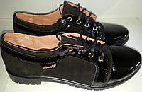Туфли женские замшевые MEDIUM 1163ч ВЕРОН