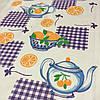 Вафельна тканина з апельсинами і чайником, ширина 40 см