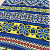 Вафельная ткань с желтым и синим орнаментом, ширина 40 см
