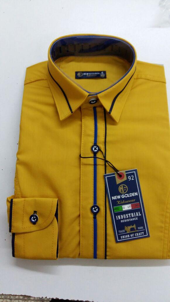 Акция!!! Детская рубашка New Golden 3-7