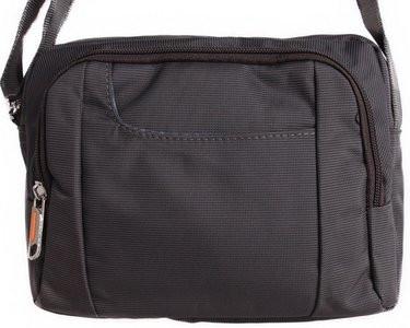 Мужская стильная сумка через плечо полиэстер 304334 серая