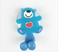 """Держатель для зубной щётки детский """"Синий медвежонок"""""""