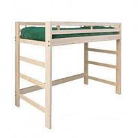 """Кровать-чердак деревянная с боковой лестницей  """"Лаура"""""""
