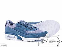 Кроссовки мужские синие №W4875,мужская спортивная обувь