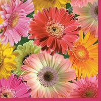 """Декупажная салфетка """"Цветы № 4"""", 33*33 см, 18 г/м2, Maki, SLOG007601, 007601"""