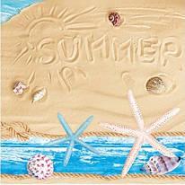 """Декупажная салфетка """"Морские украшения"""", 33*33 см, 18 г/м2, Maki, SLOG025901, 535226"""