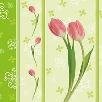 "Декупажная салфетка ""Молодой тюльпан"", 33*33 см, 18 г/м2, Maki, SLWI000701, 000701"