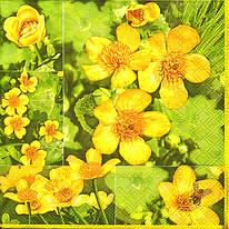 """Декупажная салфетка """"Цветы № 6"""", 33*33 см, 18 г/м2, Maki, SLWI003901, 003901"""
