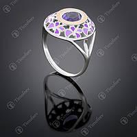 Серебряное кольцо с аметистом. Артикул П-390