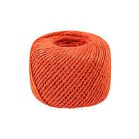 Шнур джутовый оранжевый