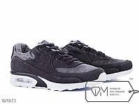 Кроссовки мужские черные №W4873,мужская спортивная обувь