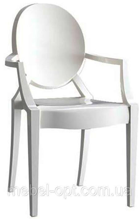 Дизайнерский стул Дорис пластиковый с подлокотниками точная копия  Philippe Starck Louis Ghost Armchair Chair