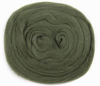 Шерсть для валяния, 50 грамм, лесная зелень 190, Nako keche, 001901