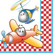 """Декупажная салфетка """"Самолет и вертолет"""", 33*33 см, 18 г/м2, DAISY, SDOG017701, 017701"""