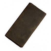 Кожаный кошелек TIDING BAG 8030R коричневый