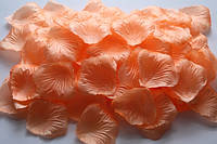 Искусственный лепесток розы, тканевой, персиковый, 4*4 см, 13505