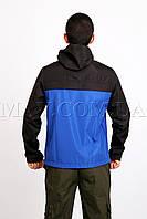 Анорак мужской спортивный черно-синий Ястреб