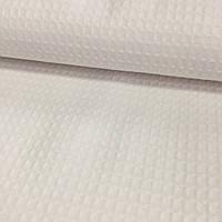 Вафельная ткань белая однотонная, ширина 150 см, фото 1