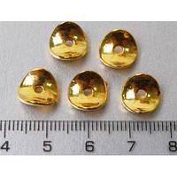 Разделители для бусин, волна, золото, 10*2 мм, 20 штук, Margo, 5008601