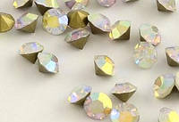 Стразы, 144 шт/уп, 3,4-3,5 мм, кристал АВ, 030566
