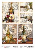 """Декупажная карта """"Коллекционные вина"""", 21*29,7 см, 55 г/м2, ROSA START, 696009"""