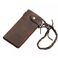 Кожаный кошелек TIDING BAG 8031R коричневый