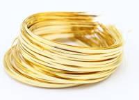 Заготовка обруч металлический, золото, ширина 0,3 см, 173874