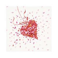 "Декупажная салфетка ""Сердце"", 33*33 см, 17,5 г/м2, ti-flair, 378516"