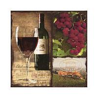 "Декупажная салфетка ""Вино красное"", 33*33 см, 17,5 г/м2, ti-flair, 344822"