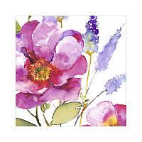 """Декупажная салфетка """"Акварельные цветы"""", розовые, 33*33 см, 17,5 г/м2, ti-flair, 367745"""