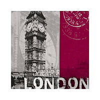 """Декупажная салфетка """"London"""", 33*33 см, 17,5 г/м2, ti-flair, 373413"""