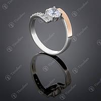 Серебряное кольцо с цирконием. Артикул П-391