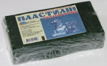 Пластилин скульптурный, 400 г, оливковый, Гамма, Западная Промышленная Группа, Украина, 331005