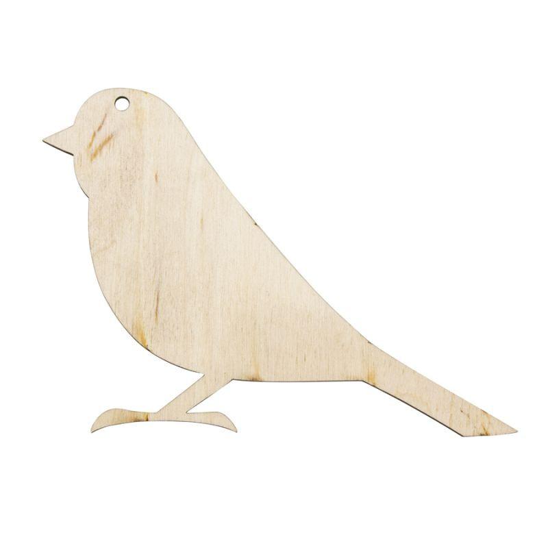 """Заготовка """"Птичка 1"""", 8*11.5 см, фанера, Rosa Talent, 2863028"""