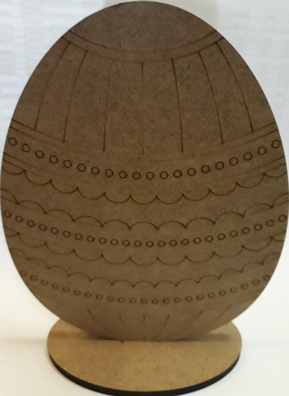 """Заготовка """"Яйцо 7"""", МДФ, 17*12.5*0.6 см, ROSA Talent, 2806032"""