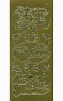 """Наклейка """"Цветы в рамках"""", 10*23 см, золото, Jeje, 530827"""