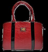 Превосходная женская сумка Diary Klava красного цвета с полоской KVV-722377