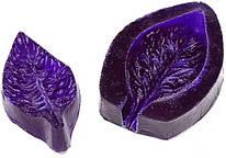 Молд двусторонний, лист дикой розы, 2 части, 54*28 мм, 024528