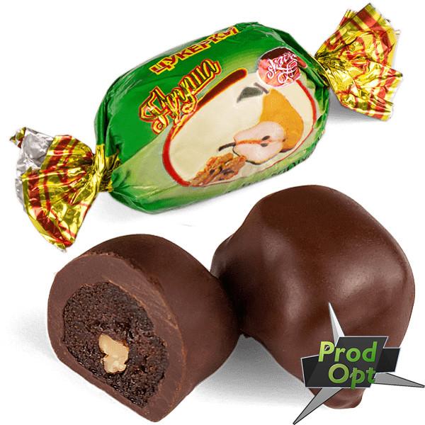 """FRUTTА Цукерки """"Груша з волоським горіхом в шоколаді"""" 1 кг"""