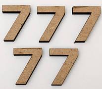 """Заготовка цифра """"7"""", высота 3 см, МДФ, ROSA Talent, 4801413"""
