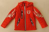 Демисезонная куртка - жилетка на мальчика Тигр